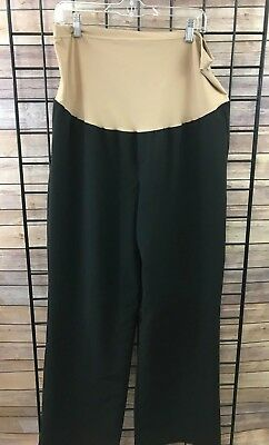 DUO Maternity Dress Pants Size 1X Black Trouser Style Career Wear