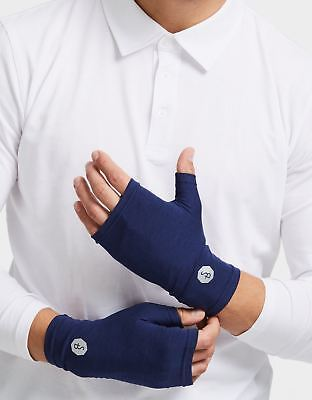 Solbari UPF50+ Sun Protective Mens Soft Fingerless Driving Gloves