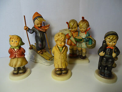 Hummel Goebel Lot of 5, TWO FULL BEE, 4 to 6 inches tall.