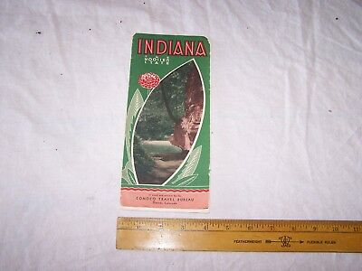 Vintage INDIANA The Hoosier State Travel Brochure CONOCO Gas & Oil