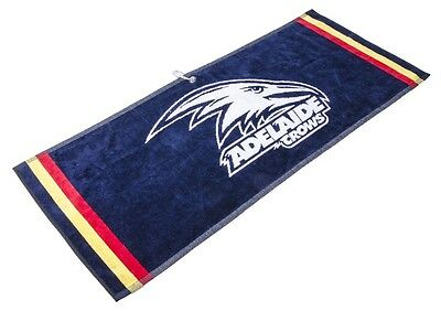 Official Afl Jacquard Golf Towel - Adelaide - Brand New - Value Plus!!