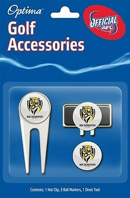 Afl Golf Accessory Pack - Richmond - Official Afl Product - Gift Idea!
