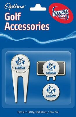 Afl Golf Accessory Pack - North Melbourne - Official Afl Product - Gift Idea!