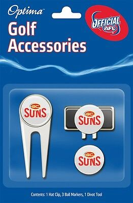 Afl Golf Accessory Pack - Gold Coast - Official Afl Product - Gift Idea!