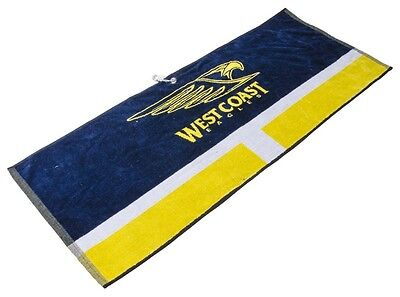 Official Afl Jacquard Golf Towel - West Coast Eagles - Brand New - Value Plus!!