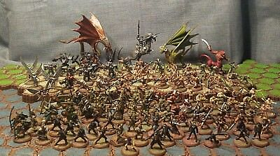 125 Heroscape Figures Lot No Cards Valkyrie  Marro Viking Army Samurai Dragon