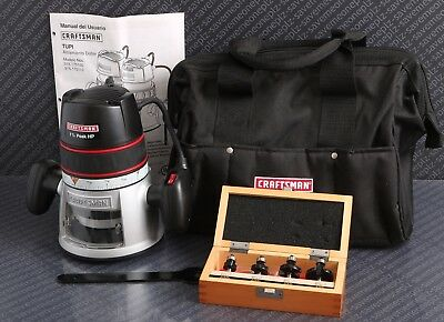 CRAFTSMAN 1-1/2 HP ROUTER MODEL #315.175100 w/ Bits & Carrying Bag
