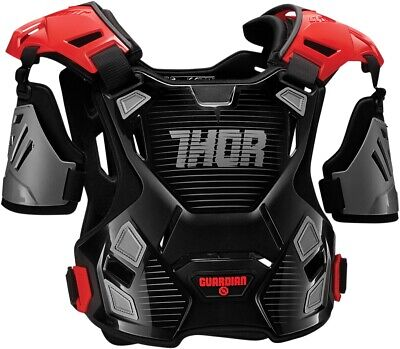Thor Guardian Chest Guard Black/Red 2701-0792 XL/2X