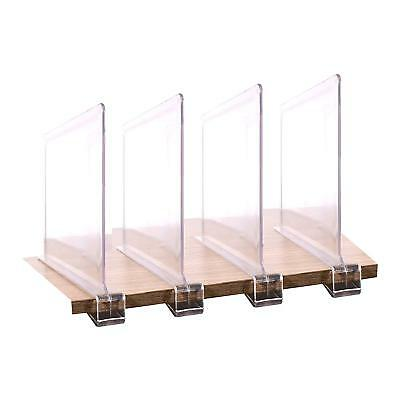 4PCS Multifunction Acrylic Shelf Dividers,Closets Shelf And Closet separator