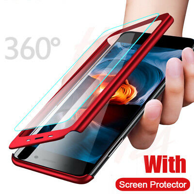 For Xiaomi Redmi Note 8T 8 7 6 5 Pro 360° Full Cover Hybrid Case+Tempered Glass