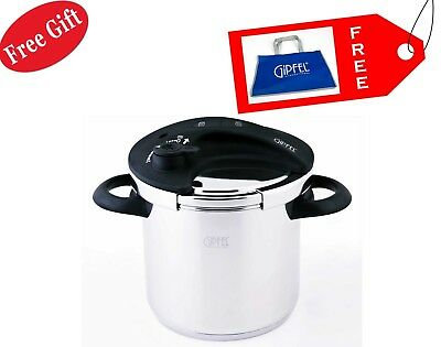 GIPFEL Pressure Cooker 4l 20 cm Induction Stainless Steel Healthy Cooking