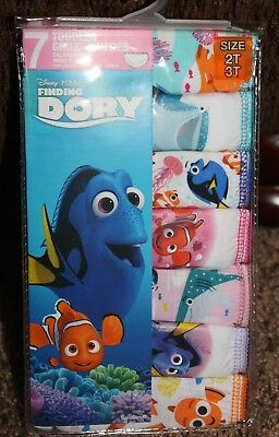 NEW toddler girl DISNEY*PIXAR 7-pair FINDING DORY cotton PANTIES size 2T-3T