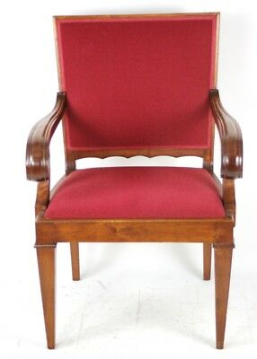 Vintage English Walnut Carver Armchair - FREE Shipping [PL4273]