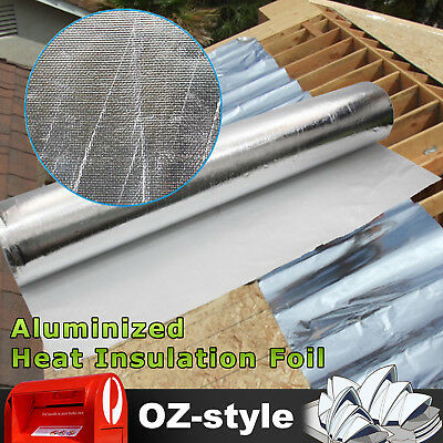 Aluminum Heat Reflective Foil Shield Insulation House Barrier Keep Warm 1M Width