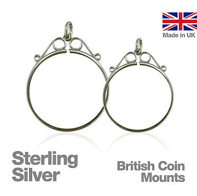 Sterling Silver British Coin Mounts for Jewellery Making
