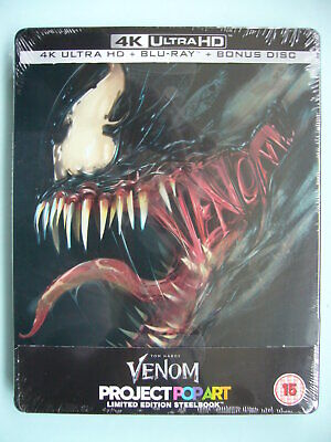 Venom Limited Edition 4K Ultra HD Blu-ray Steelbook New Sealed **IN STOCK**