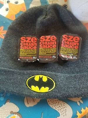 LOT OF 3 NEW McDonald's Schezwan Sauce Dipping Rare Limited Quantity! 3/2018