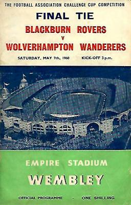 1960 F.A.Cup Final.Blackburn Rovers v Wolverhampton Wanderers Wolves