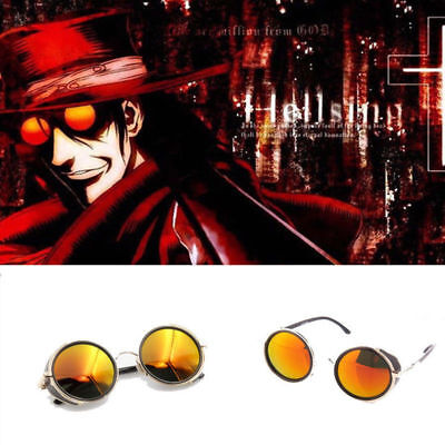 Anime HELLSING Alucard Vampire Hunter Tailored Cosplay Glasses Sunglasses Orange
