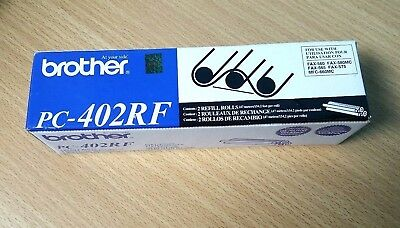 GENUINE BROTHER PC-402RF PRINTING Black CARTRIDGES~ FAX RIBBON 2 Refill Rolls