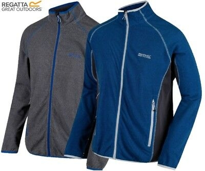 REGATTA MENS MONS III FULL ZIP MICROFLEECE RMA321 BLUE or GREY