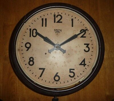 """30's - Smiths """"Sectric"""" Wall Clock - Runs but Spares or Repairs"""