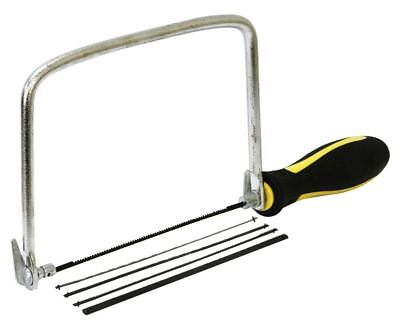 Rolson Coping / Fret Saw Wood Handle Steel Metal Frame With 5 Blades