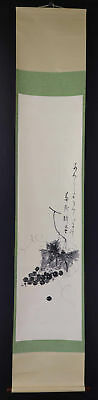 JAPANESE HANGING SCROLL ART Painting  Asian antique  #E1225