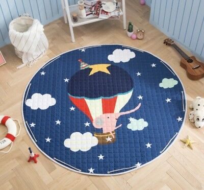 Baby Round Carpet 150cm Playing Mat Floor Crawling Pad Rug Cotton Flying Balloon