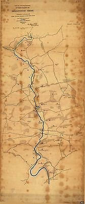 12x18 inch Reprint of American Military Map Bandywine Creek