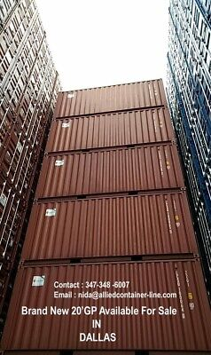 10xBrand new one trip 20' GP container for sale in Dallas for US $ 2550/unit