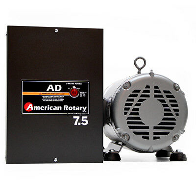 American Rotary AD7.5 | 7.5HP 240V Wall Mount AD Series Rotary Phase Converter