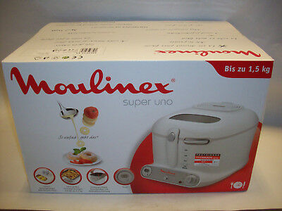 Moulinex AM 3021 Super Uno Fritteuse weiß/Hellgrau