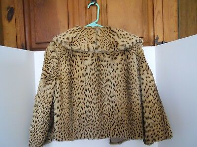 Leopard fur jacket beautiful color very vintage and the Real thing!!!!!