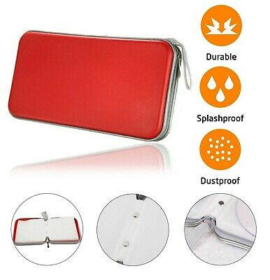 80 CD DVD Carry Case Disc Storage Holder CD Sleeve Wallet Ideal for In Car RED