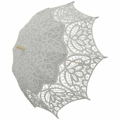 Wedding Lace Parasol Angelina in White (e8004pw)
