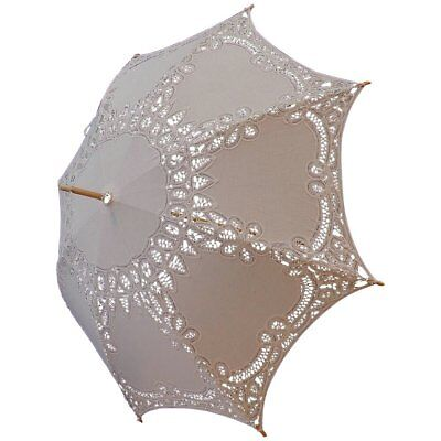 Wedding Lace Parasol Keira in White (e8006pw)