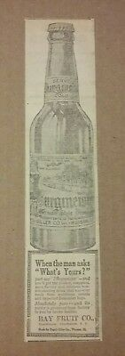 1917 Burgmeister Beverage Ad Warsaw, Illinois Soda Pop
