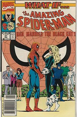 What If? (1989) #21 FN/VF 7.0 Marvel Comics Spider-man Married the Black Cat