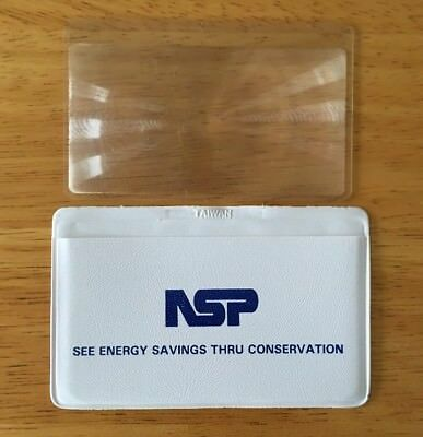 NSP Northern States Power Co. Magnifying Pocket Magnifier Plastic (not glass)