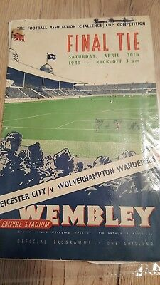 Leicester City v Wolverhampton Wanderers FA Cup Final Programme 30 April 1949