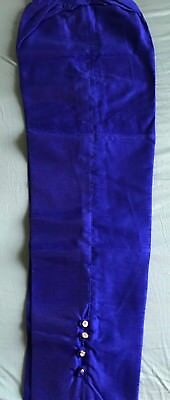 Indian Ethnic Raw Silk Royal Blue Pant Palazzo Trouser