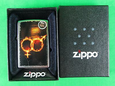 Zippo Flaming Male Female Logo Lighter New in Box Still Sealed and Unstruck 2014