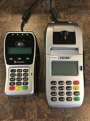 First Data FD100 Ti  & FD-35 Pin Pad, credit card processing, EMV chip cards