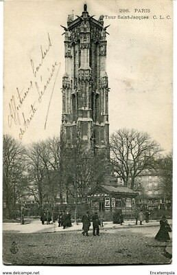 CPA -Carte postale- FRANCE-Paris - Tour Saint Jacques - 1905 (CP1067 )