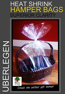 MOTHERS DAY 3 x HEAT SHRINK GIFT HAMPER BAGS 60cm x 60cm 3 Bags / pack
