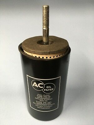 New 1958-1967 Corvette Chevy V8 AC Oil Filter Canister PF141 w/Filter & Gasket