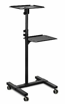 Mount-It! Mobile Projector and Laptop Stand Height Adjustable Presentation Cart