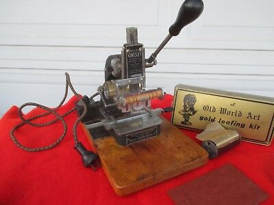 VINTAGE KINGLEY STAMPING MACHINE No. 17496 Hot FOIL Stamping , Hollywood USA
