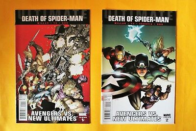 Ultimate Avengers Vs New Ultimates Death of Spider-Man complete 6 issue series